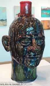 Large Face Pot by Geoff Calabrese