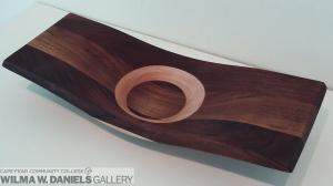 Eclipse Bowl/ Walnut and Maple by Richard Conn