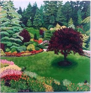 Butchard Gardens: Sunken Garden by Deborah O'Rourke Quinn