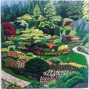 Butchart Gardens: Rose Garden by Deborah O'Rourke Quinn