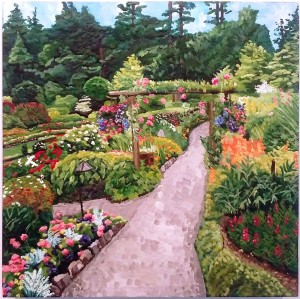 Butchart Garden Entrance by Deborah O'Rourke Quinn