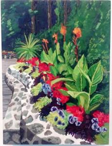 Butchard Garden:Sunken Garden Detail by Deborah O'Rourke Quinn