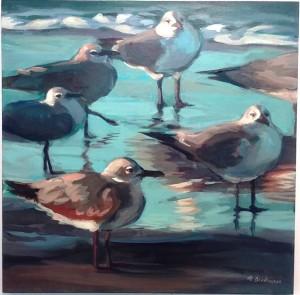 Gulls a Dawn II by Nat Dickenson