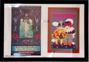 "(Left)""Wood Stock Musical Festival: An Aquarian Exposition"". 1969. David Byrd.(Right) ""The Blushing: Peony"" Monro."