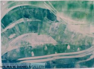 Turtle View #3. Monoprint.