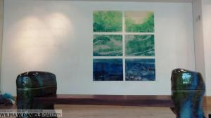"""Endangered Video on Turtle View Wall. """"Sit, lie, contemplate; Imagine, be, sea turtles; mysterious deep""""."""