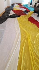 Banner Installation by Joan Farrenkopf