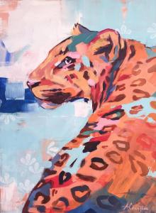 """Colorful Leopard""by Amy Covington"