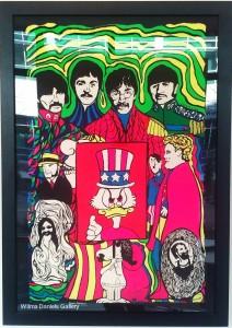 """""""Beatles and Donald"""". 1969. Dan Shupe. Poster Prints."""