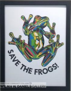 Graphic Glass Frog by Jessie Robertson.