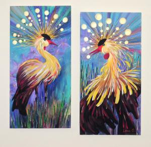 """Crowned Crane Dance""by Lena Grundman"