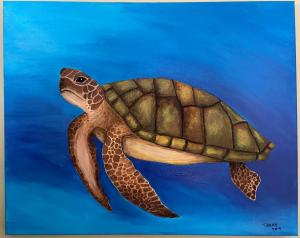 """Sea Turtle Adrift""by Tammy Hinkle"