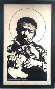 """Jimi Hendrix"". 1971. Pentagno."
