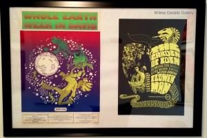 "(Left)""Whole Earth Week"". Peter Max. (Right) ""The Garden of Eden"". H. Bernstein."