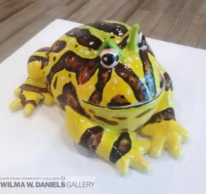 Ceramic Horned Frog by Jessie Robertson.