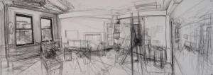 """""""Portland Studio: East Room"""" by Gideon Bok."""